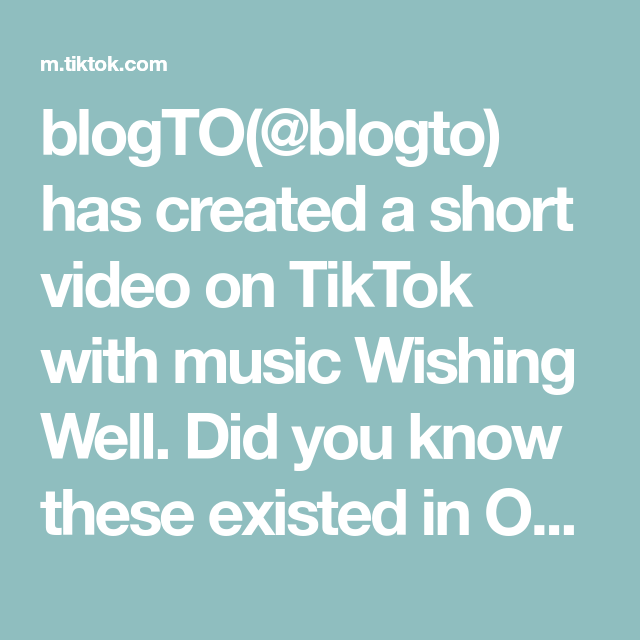 blogTO(@blogto) has created a short video on TikTok with music Wishing Well. Did you know these existed in Ontario 🤨 #toronto #ontario #canada #attraction #weird #wtf #bizarre #canadalife #didyouknow #funfacts #learn #fyp