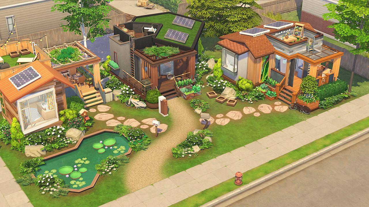 Aveline - ECO TINY HOUSE COMMUNITY 💚  3 bedrooms - 4 sims 3...