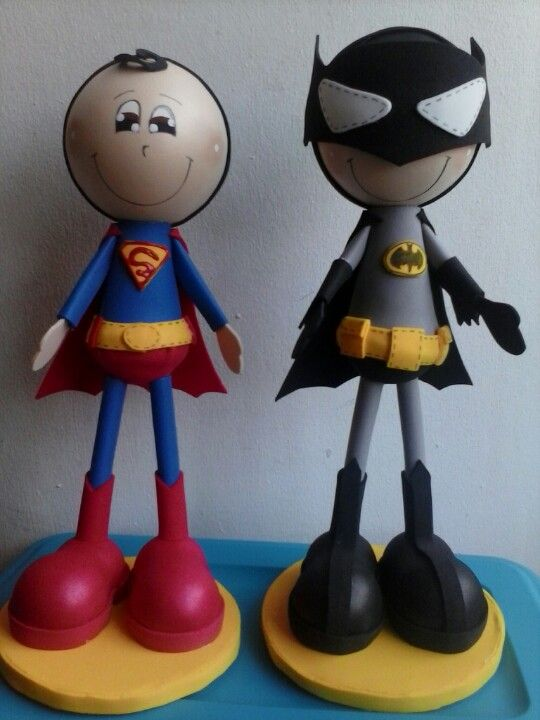 Cute and handmade superheroes