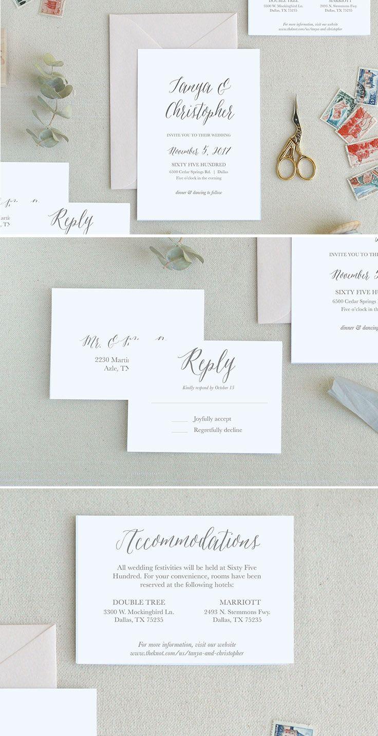 Minimal Wedding Invitations. Modern Wedding Invitation Templates ...