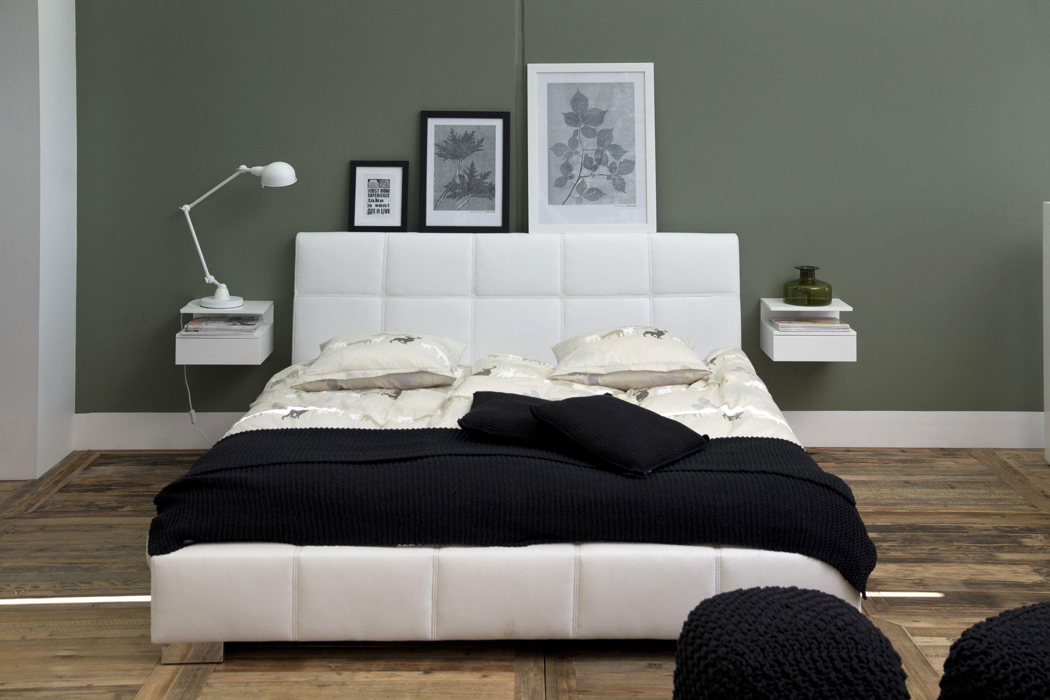Zwevend nachtkastje mat wit slaapkamer in