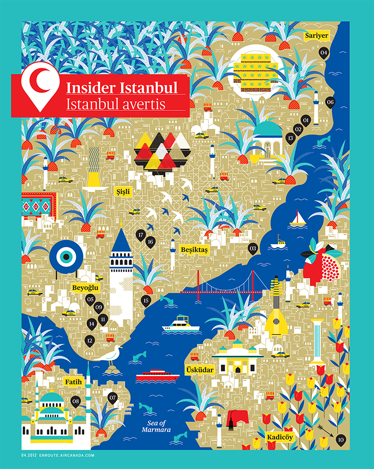 Istanbul Map by La Tigre Posters Artworks Pinterest