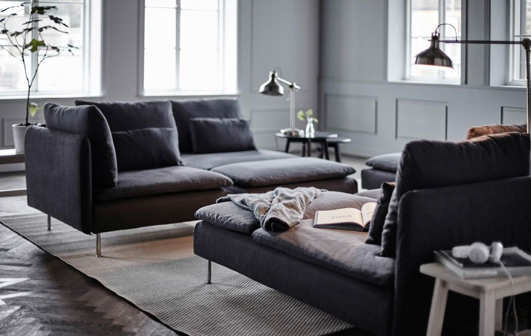 hier zeigen wir dir unsere superwohnlichen ideen f r s derhamn modulsofas sofa und sitzm bel. Black Bedroom Furniture Sets. Home Design Ideas