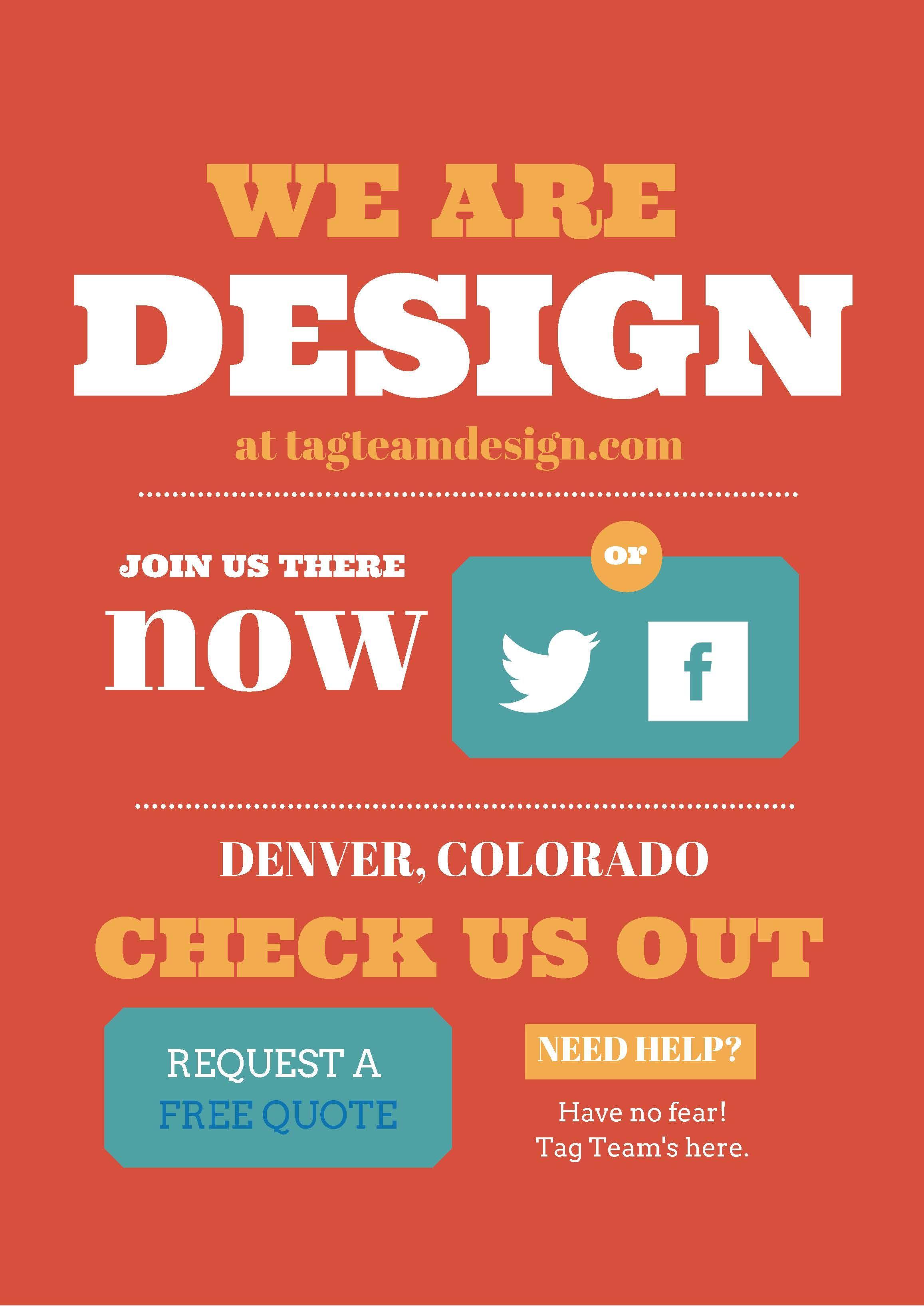 We are the Tag Team. Web design, Seo