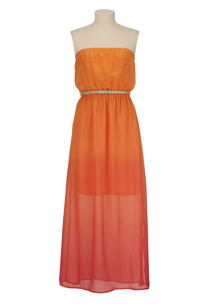 Belted ombre maxi dress maurices clothes u accessories