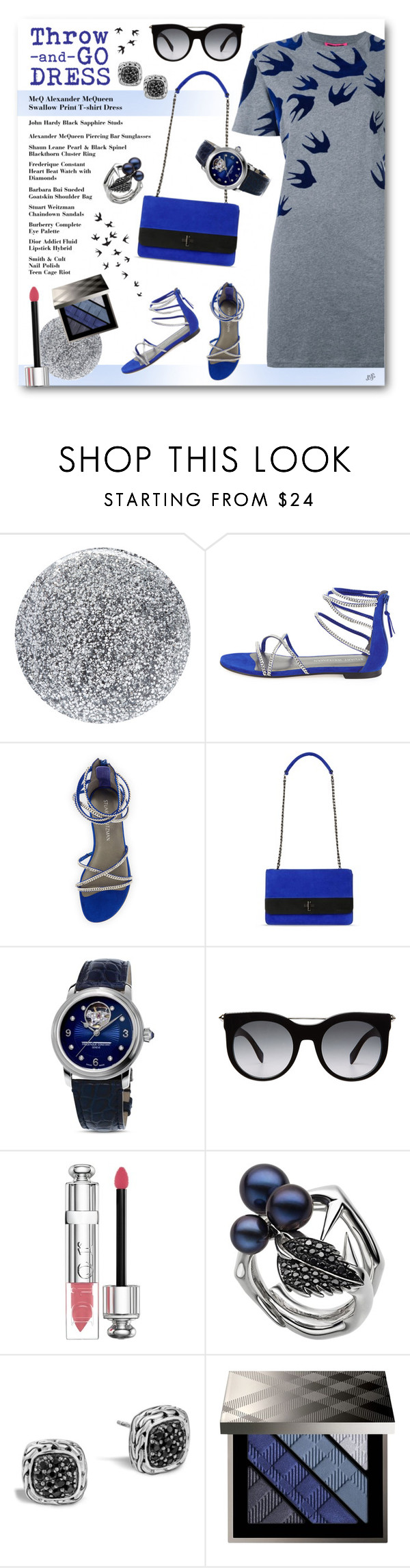 """""""Untitled #1093"""" by louise-stuart ❤ liked on Polyvore featuring Smith & Cult, Stuart Weitzman, Barbara Bui, Frédérique Constant, Alexander McQueen, Christian Dior, John Hardy, Burberry and McQ by Alexander McQueen"""