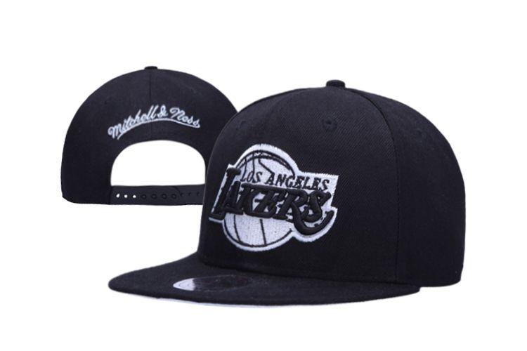 the best attitude 9aa29 4b73f NBA Snapbacks Hats LA Lakers Cap Mitchell And Ness All Black 2532! Only   8.90USD