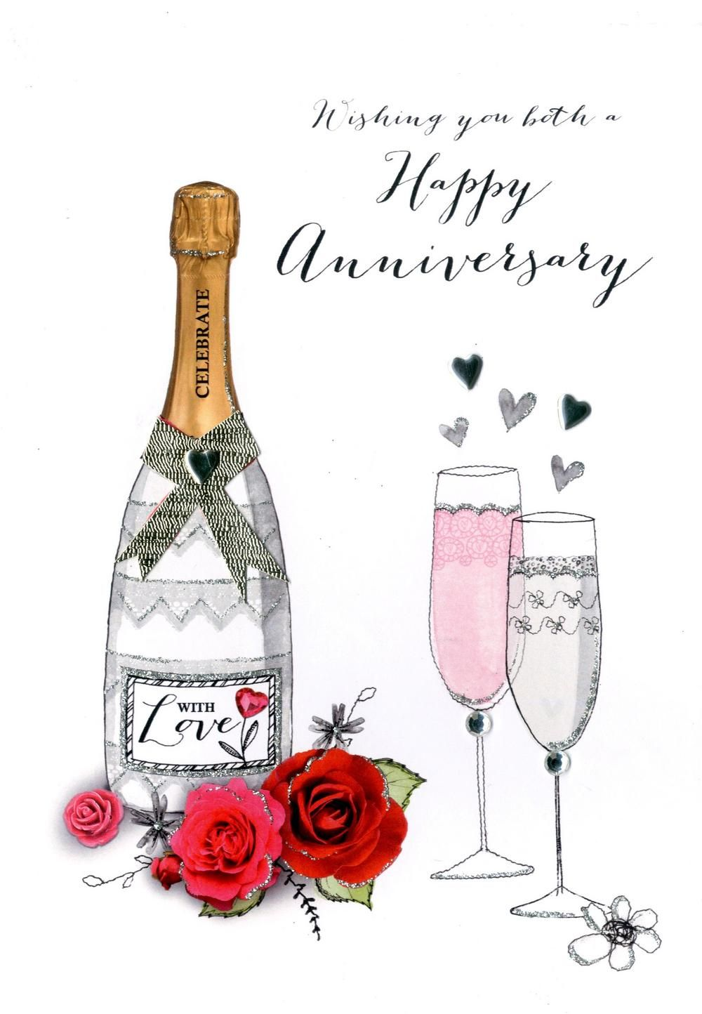 Wishing You Both Happy Anniversary Greeting Card Happy