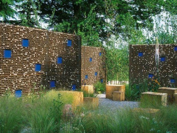 95 idées pour la clôture de jardin   palissade, mur et brise vue ...
