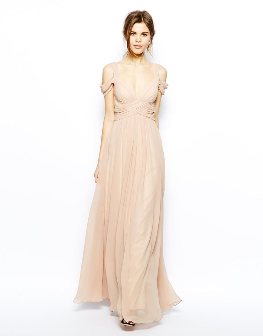 Forever Unique Forever Unique Sweetheart Maxi Dress With Off Shoulder At Asos Floor Length Chiffon Bridesmaid Dresses Dresses Ball Dresses [ 1110 x 870 Pixel ]