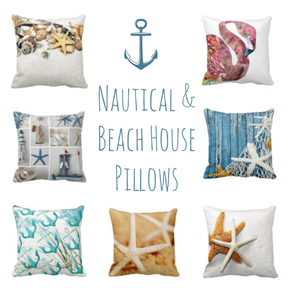 Nautical Sofa Throws Beach Throw Pillows Interior Design Collab Beach House Decor