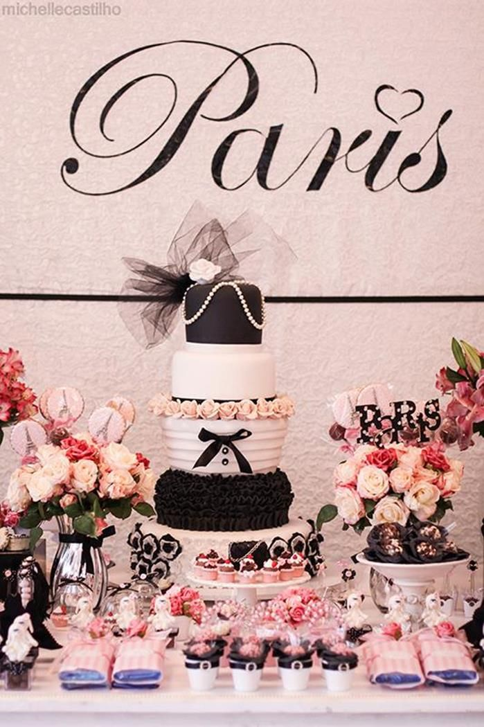 Pink Paris Birthday Party Full of Cute Ideas via Kara's Party Ideas: The Cake