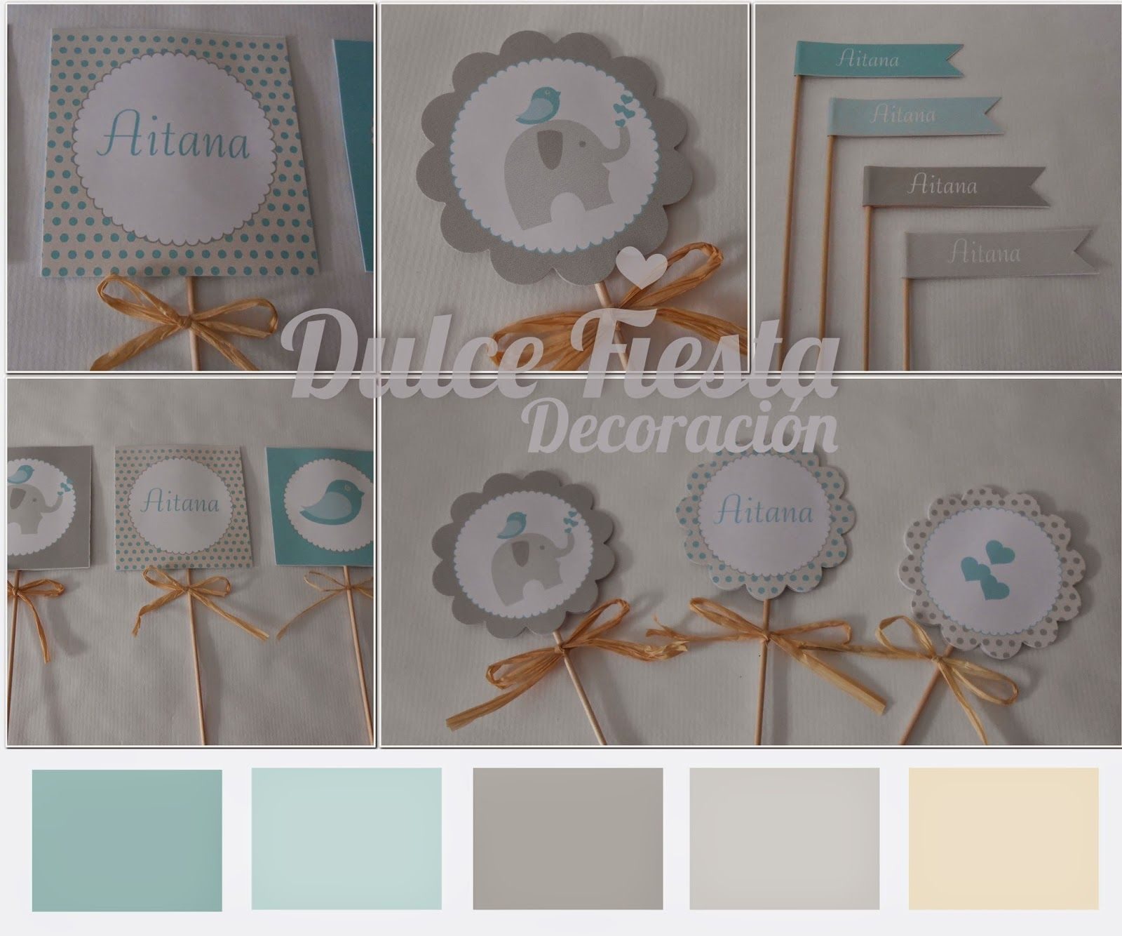 kit de decoracion personalizada Elefante #fiestasdecumpleaños