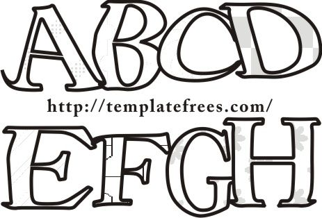 Free Worksheets  Alphabet Letter Stencils To Print Free Free