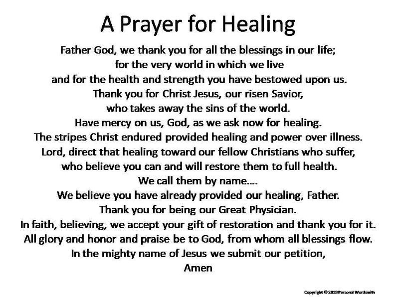 Downloadable Healing Prayer, Christian Healing Pra