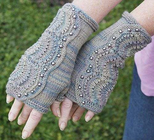 Fingerless Mitts and Gloves Knitting Patterns | Guantes, Mitones y ...