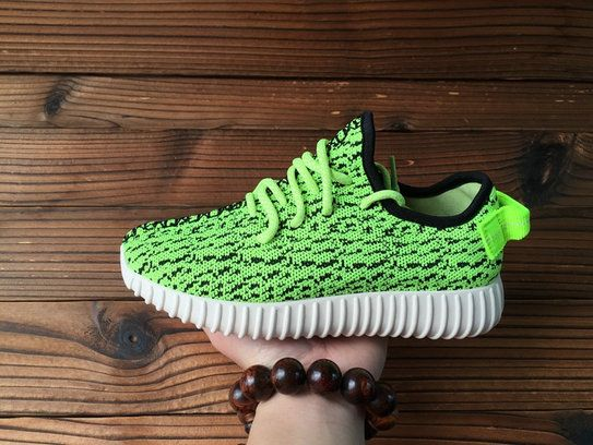 03c91cd24d99 Women Adidas Yeezy Boost 350 Low Poison Green Flash Lime In The Hand ...