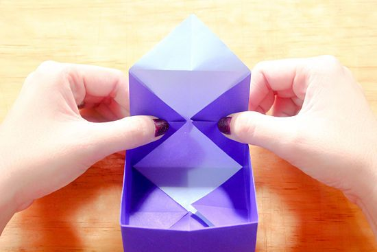 How to Make an Origami Star Box (with Pictures) - wikiHow | 367x550