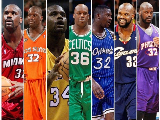 the latest d0035 0b74f Shaq has a jersey for every color of the rainbow. #NBA ...