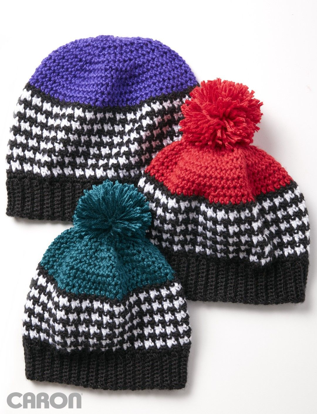 Houndstooth Bright Hat | Craft Fair Ideas | Pinterest | Gorros ...