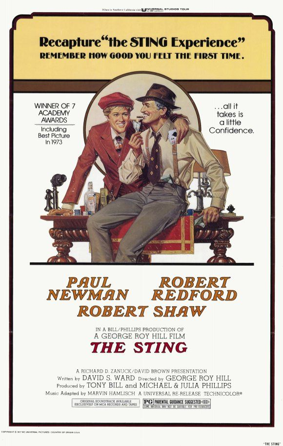 The sting Redford Newman vintage movie poster #1