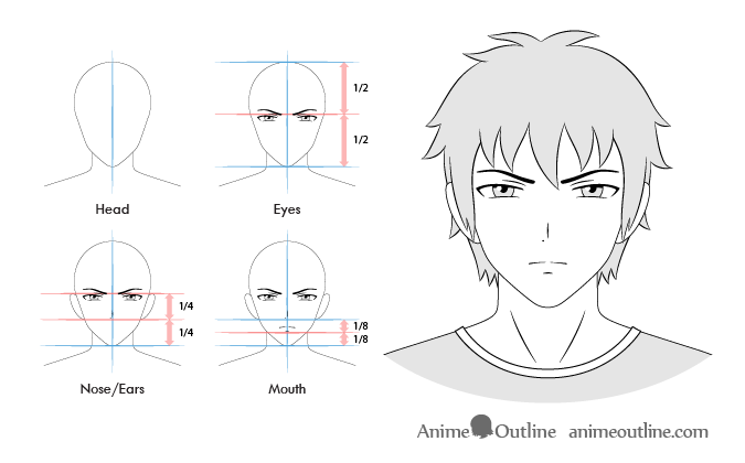 Anime Male Serious Facial Expression Anime Guys Facial Expressions Smile Drawing