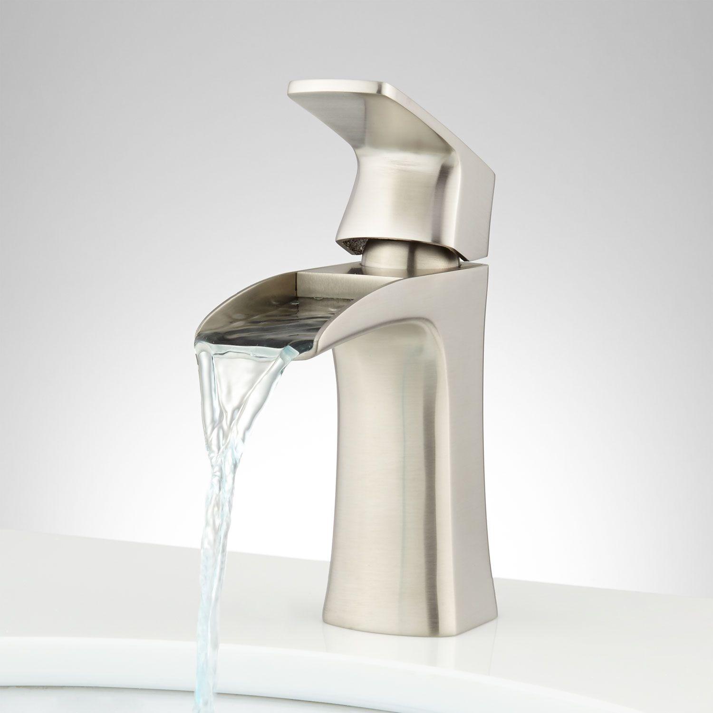 Quintero Single-Hole Waterfall Faucet | Waterfall faucet, Faucet ...