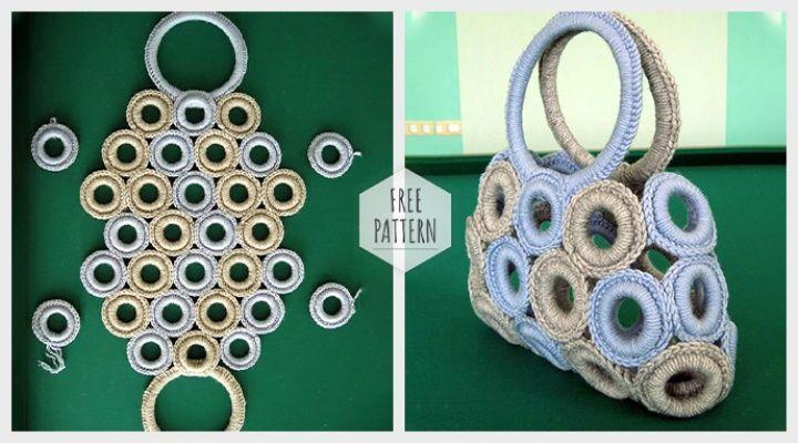 Crochet Handbag Free Pattern #crochethandbags