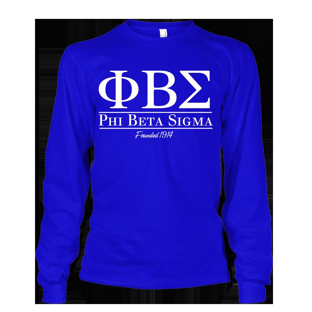 Phi Beta Sigma Collegiate Long Sleeve in 2019 | sigma