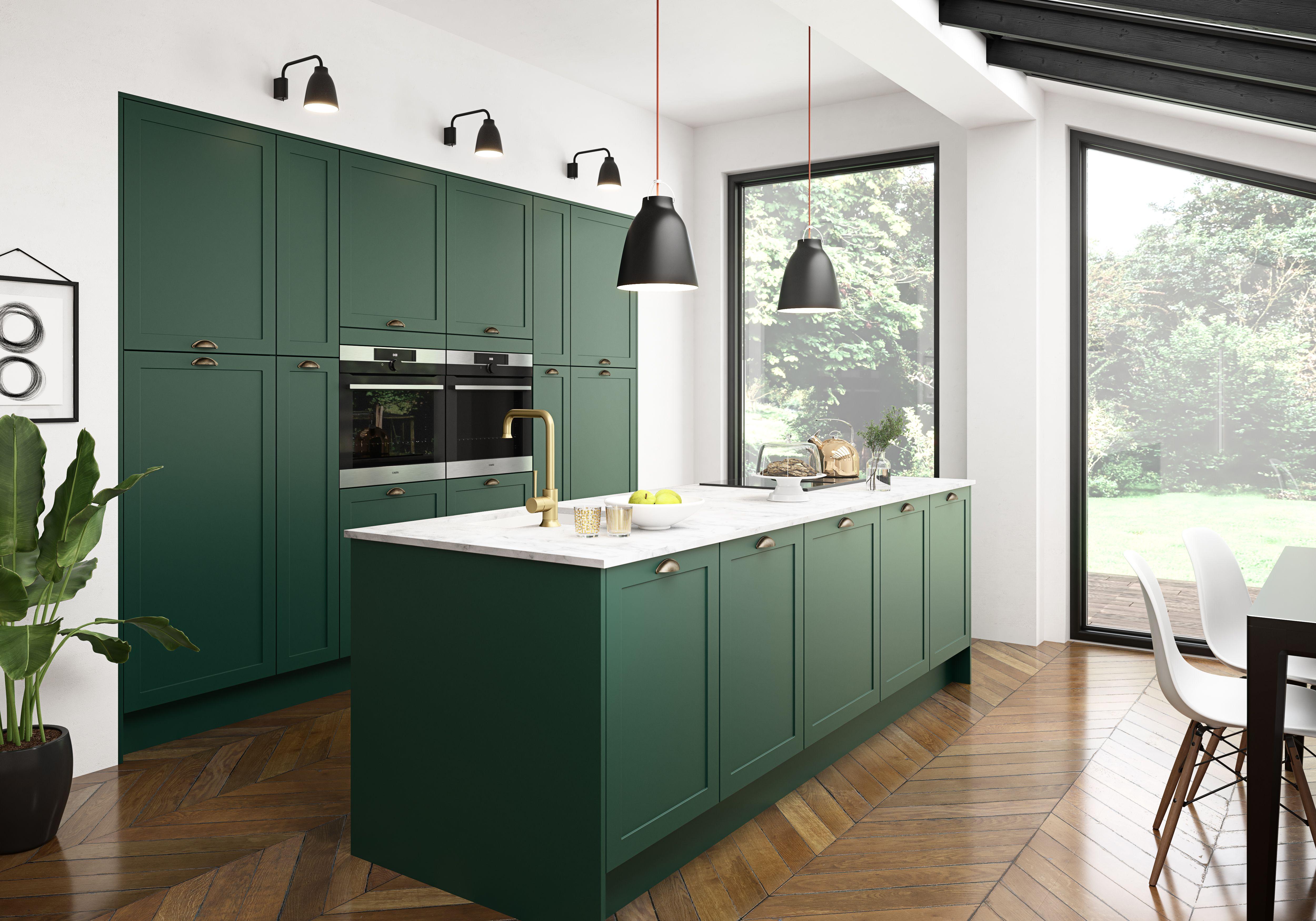 New Ideas Green Kitchen Modern