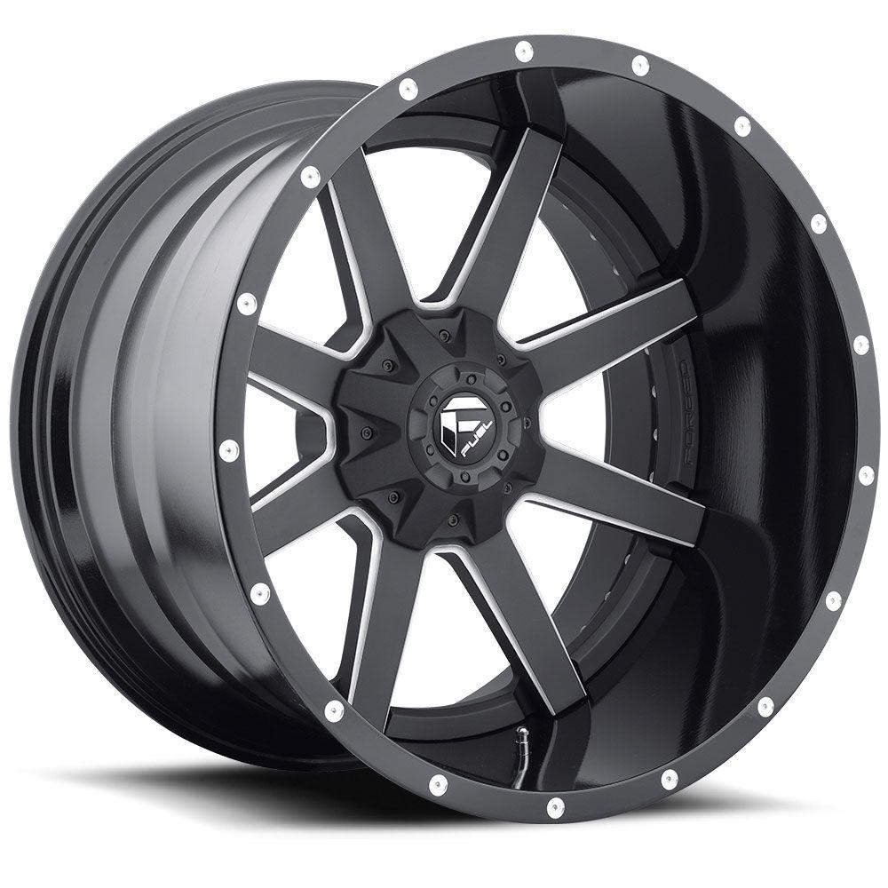D262 maverick black milled fuel off road wheels