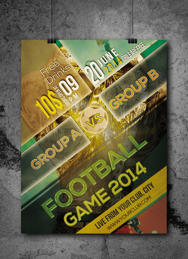 Football Tournament Free Flyer Psd Template Free Flyer Design