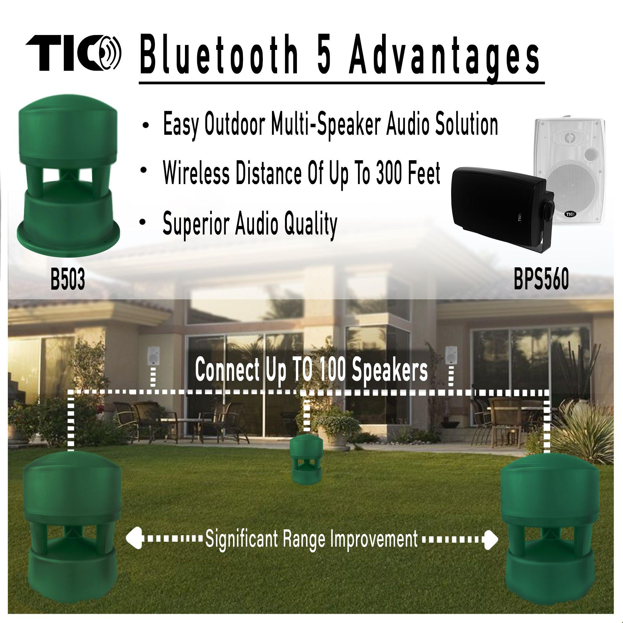 Bps560 Outdoor Bluetooth 5 Patio Speaker Single With Images Outdoor Speaker System Outdoor Sound System Outdoor Speakers Backyards