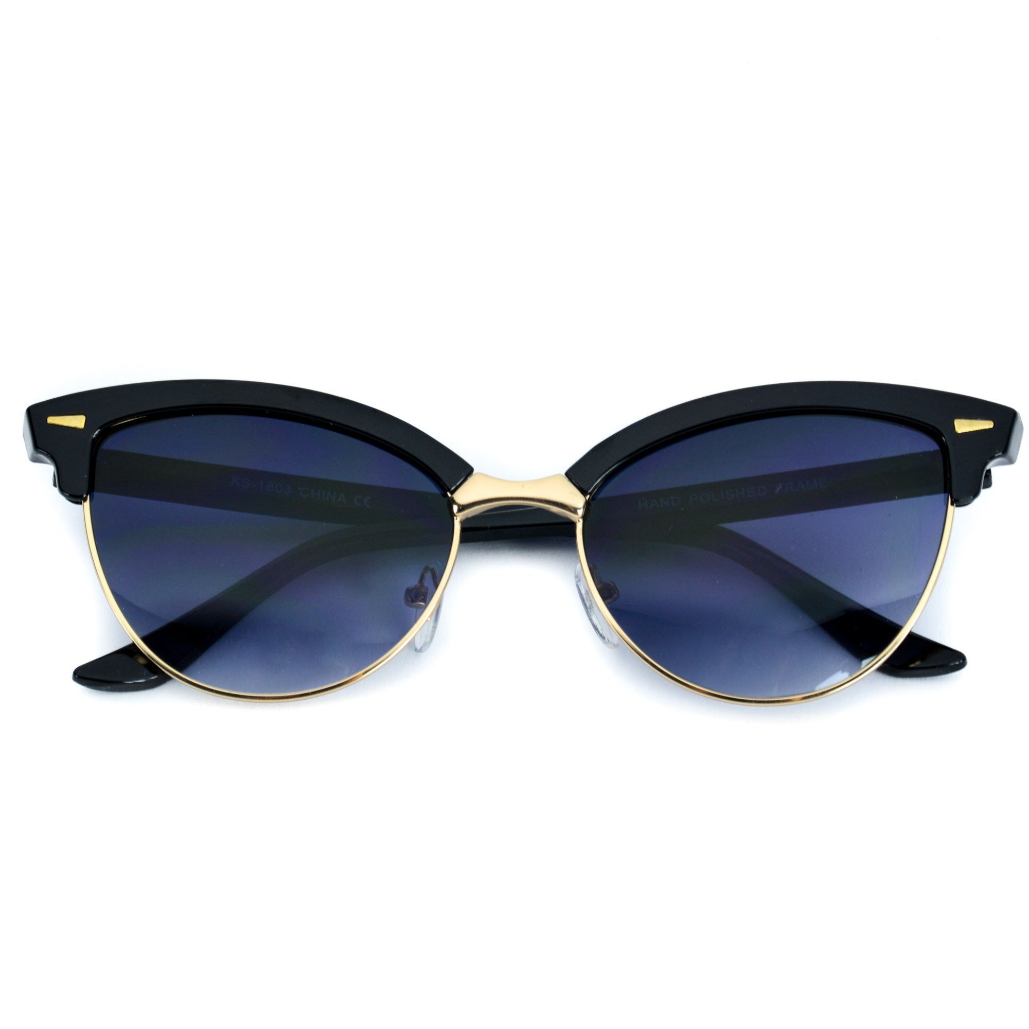 Olivia Retro Cat Eye Pointed Tip Browline Sunglasses | Products ...