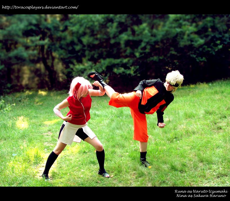 NaruSaku- Fight by ToraCosplayers on deviantART