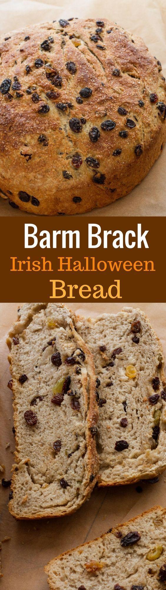 Barm Brack - Irish Halloween Bread - a little sweeter than sandwich bread, but not as rich as cake   www.savingdessert.com