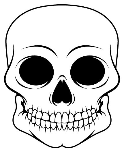 Skull outline only by vicious masks pinterest outlines sugar skull design template pseudo sugar skull from start to finish adobe pronofoot35fo Gallery