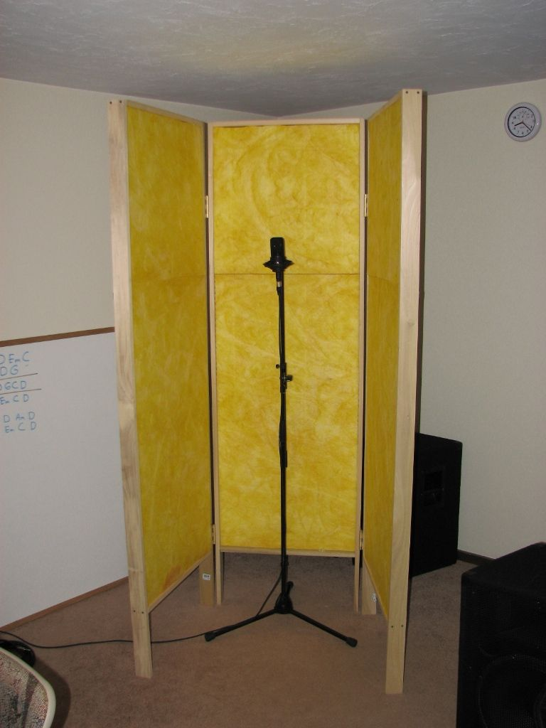 DIY GOBO   Vocal Booth Could cover a room divider with batting and fun  fabric. DIY GOBO   Vocal Booth Could cover a room divider with batting and