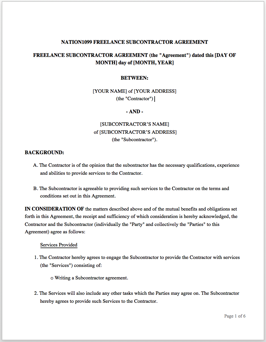 The Freelance Contract How To Write An Effective Statement Of Work In Freelance Consulting Agreement Tem Freelance Contract Statement Of Work Contract Template