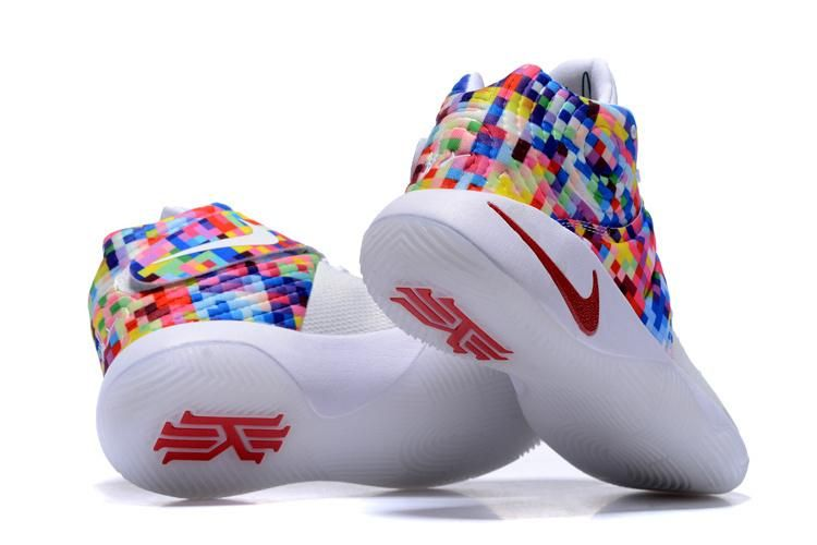 super popular b2489 8602a Nike Kyrie 2 Sneakers White Rainbow Basketball Shoes ...