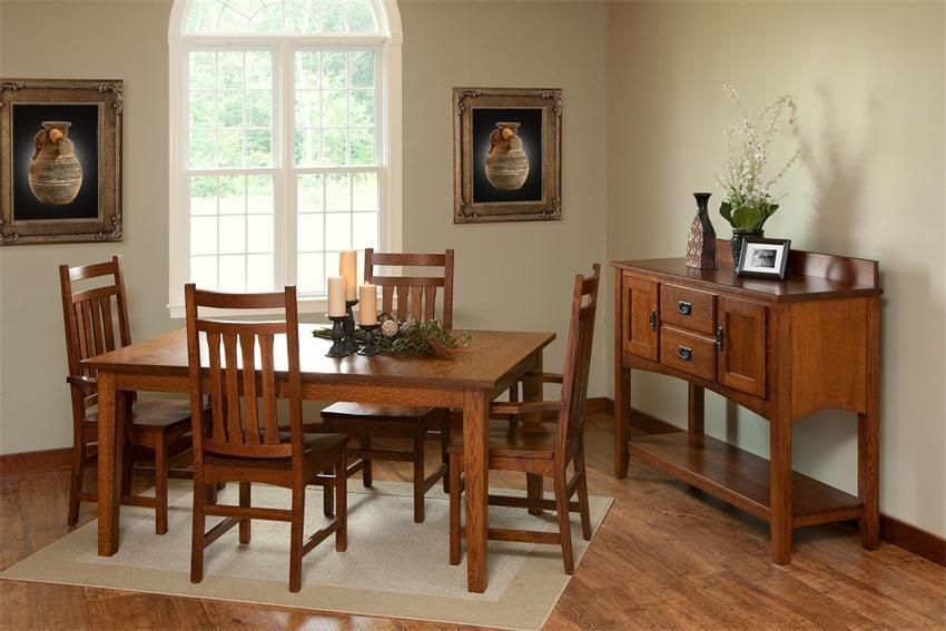 Amish Monterey Shaker Diningroom Set Stunning Shaker Style