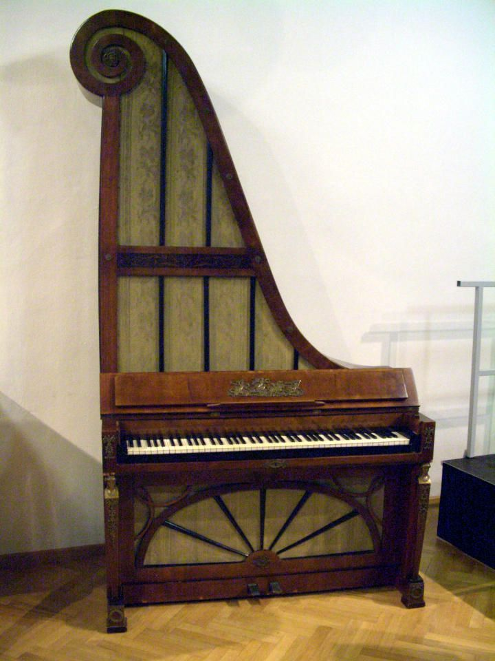 Upright Giraffe Piano Old Musical Instruments Piano