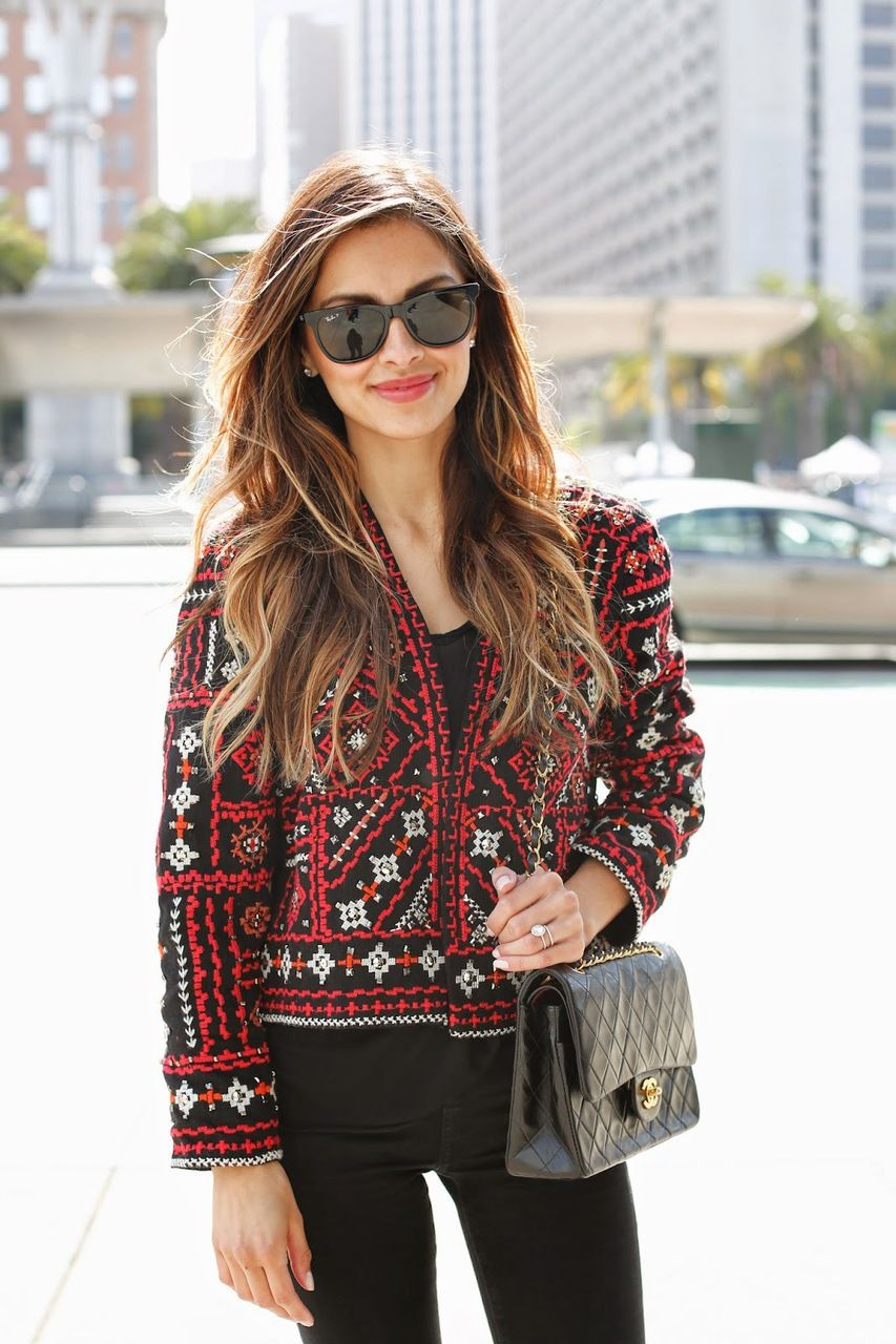 Zara ethnic embroidered jacket beautiful wardrobe moda