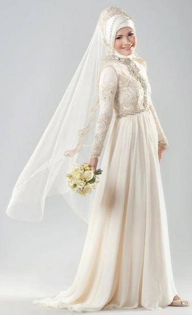 Itulah Beberapa Gambar Model Gaun Kebaya Pengantin Muslim