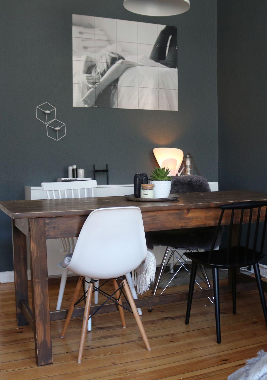 es werde licht mein zuhause wohnen einrichten diy pinterest vintage esstische dunkle. Black Bedroom Furniture Sets. Home Design Ideas