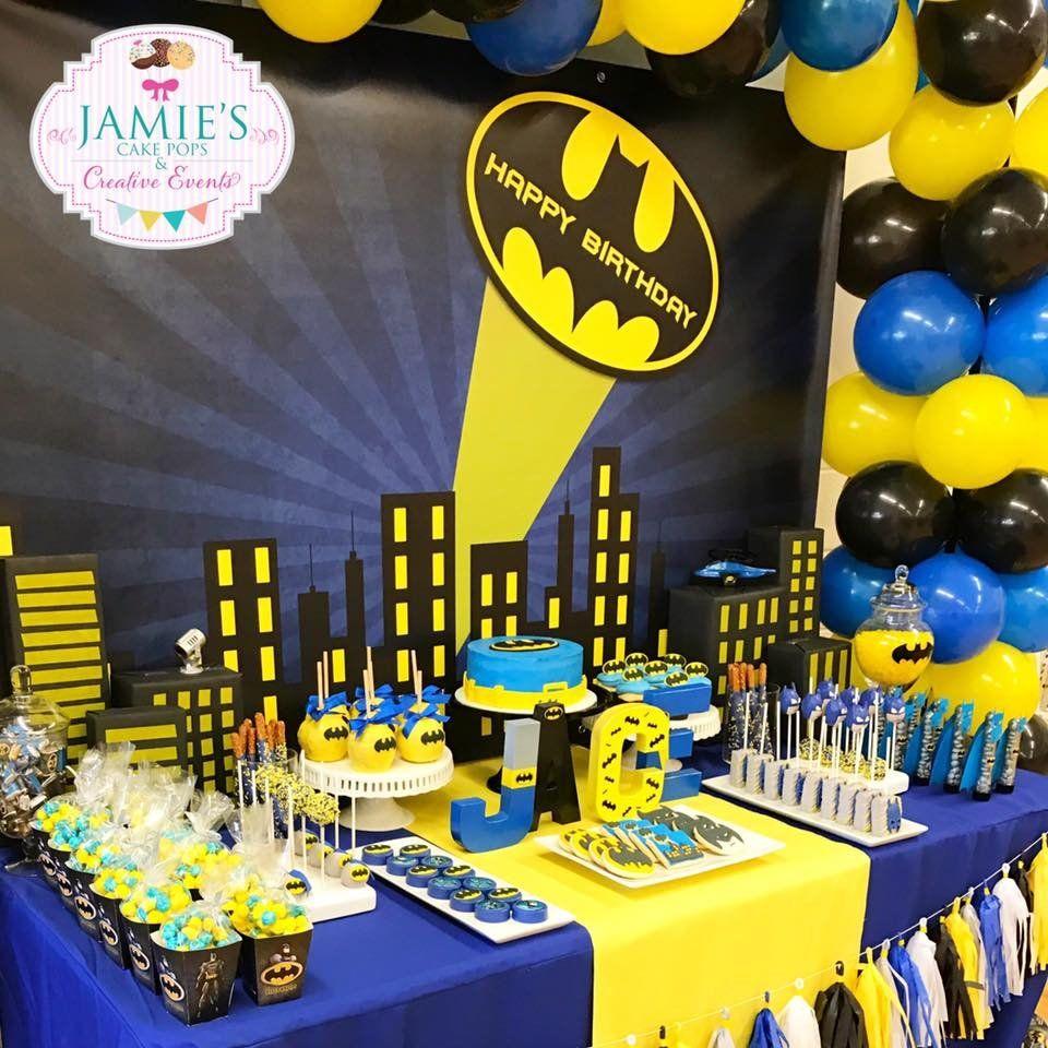Resultado de imagen para decoracion de cumplea os batman - Decoraciones fiestas de cumpleanos ...