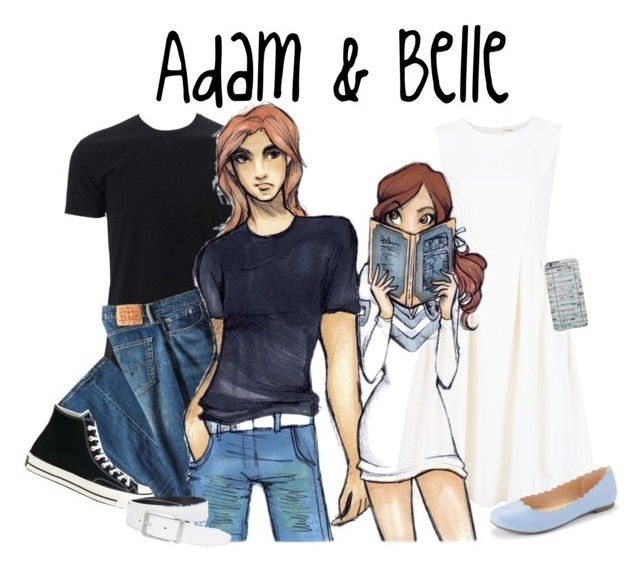 """""""Disney High - Adam & Belle"""" by laceyleanne18 ❤ liked on Polyvore featuring ADAM, Simplex Apparel, Levi's, LC Lauren Conrad, Converse and NIKE"""