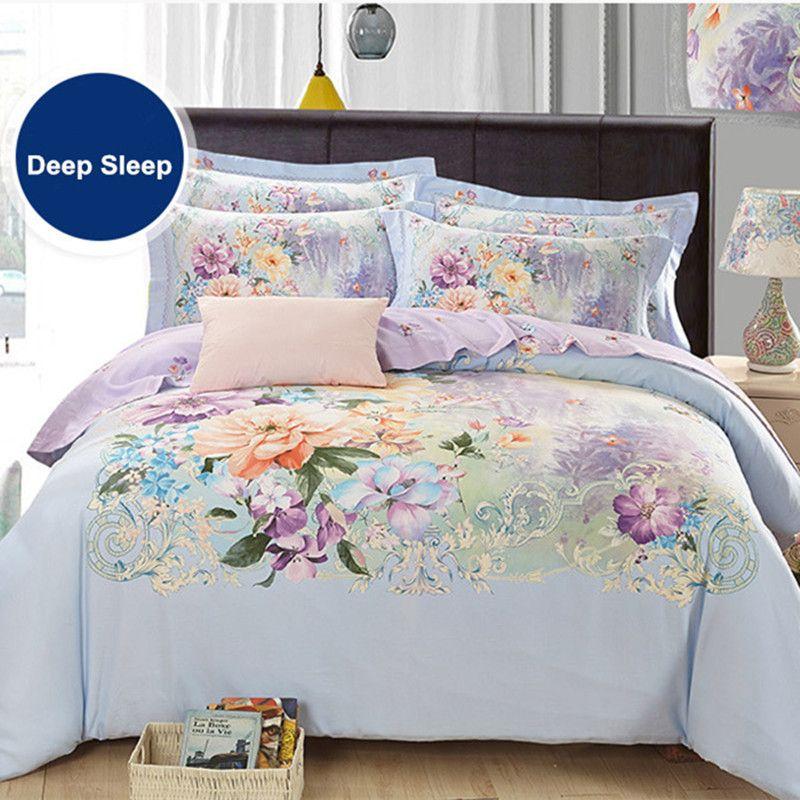 4-Pieces 100 Cotton European Round Fitted Sheet Set Round Bed Sheet