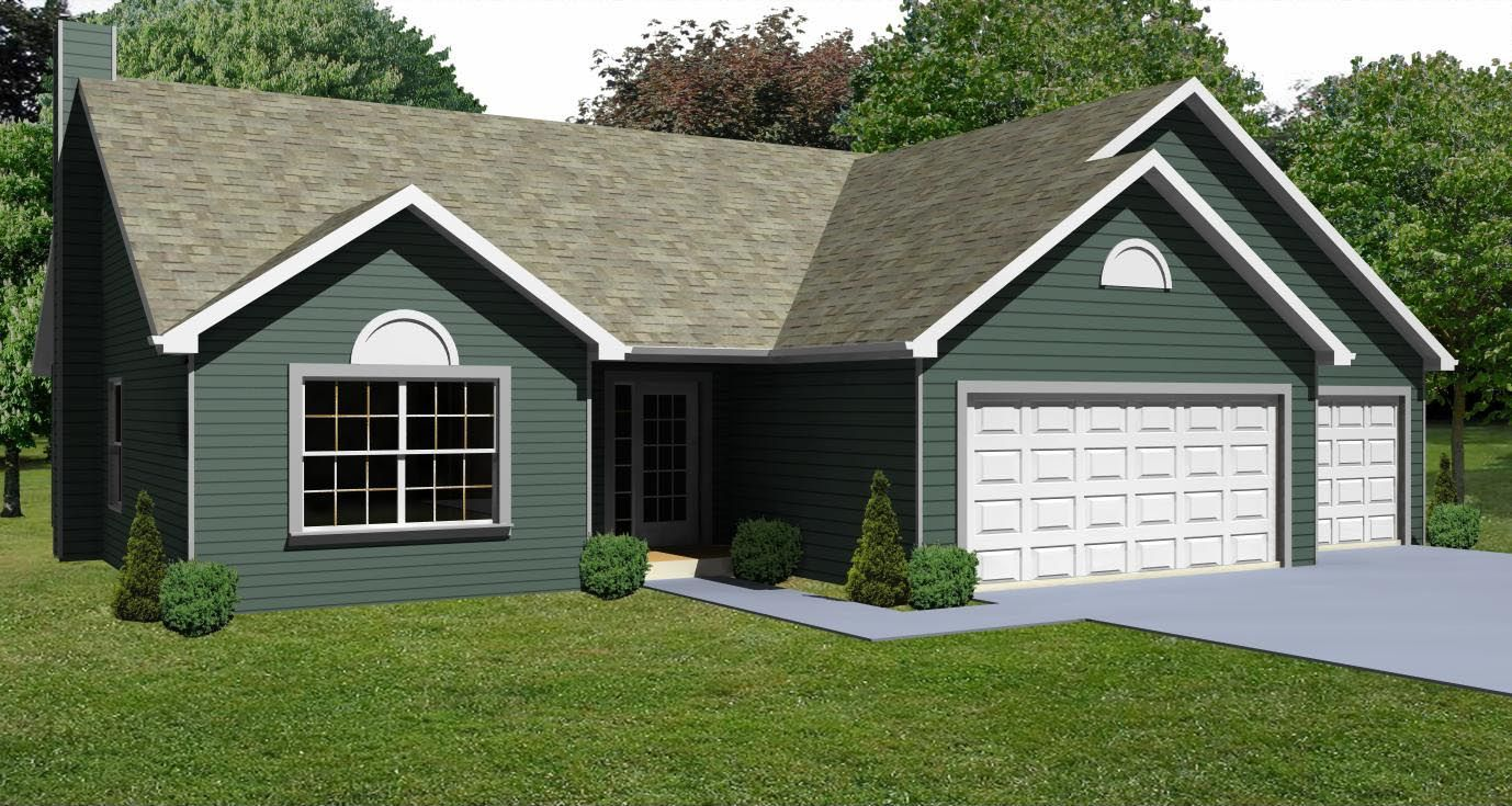 Ranch House Plans   House Plan Small 3 Bedroom Ranch House Plan  The House Plan Siteadd