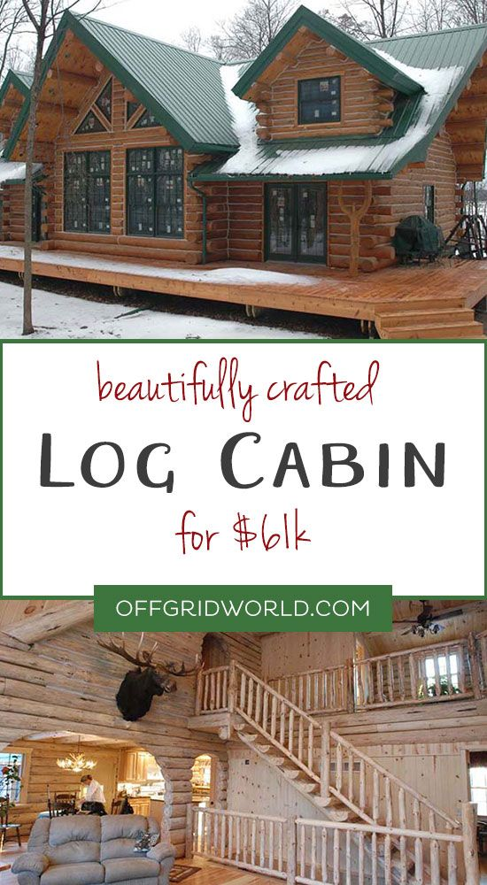 Beautiful Log Cabin for $61k - Off Grid World